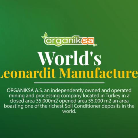 Organiksa Leonardite – Organomineral – Humate and Liquid Humic Acid Production Plants